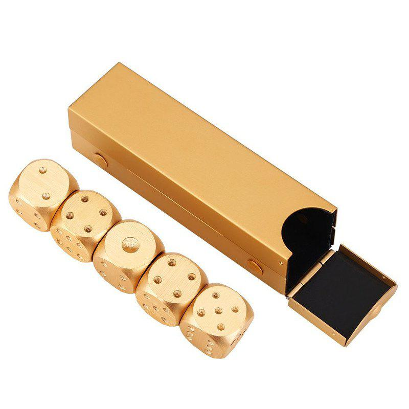 Metal Gold Color Portable Solid Heavy Dice Party Drinking Game 5PCS truth or dare drinking dice