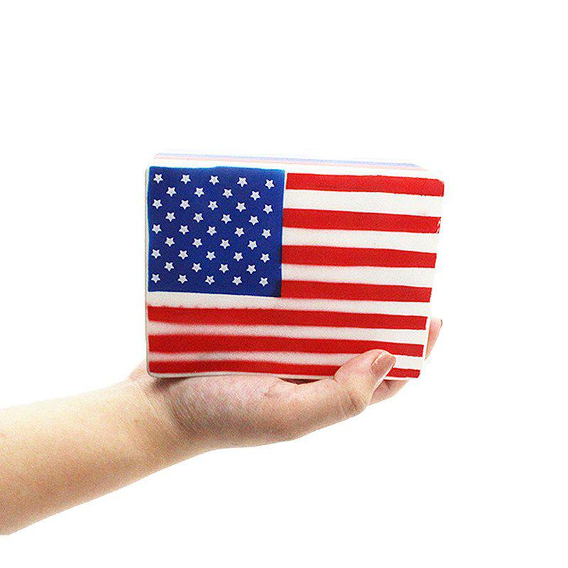 Jumbo Squishy Slow Rising Scented Squeeze Toys American Flag - multicolor