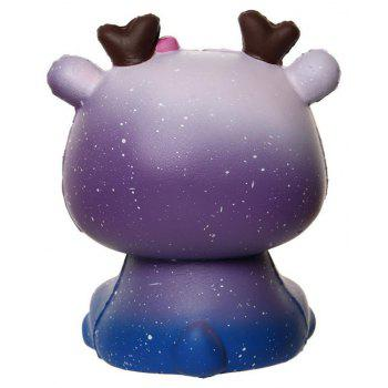 Jumbo Squishy Slow Rebound Simulation Deer Decompression Toys - PURPLE DAFFODIL
