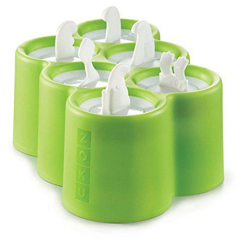 6 Different Easy-release Silicone Popsicle Molds in One Tray - HUMMINGBIRD GREEN