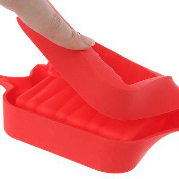 Silicone Ice Cream Mold Popsicle Molds Ice Tray Cube Tool - VALENTINE RED
