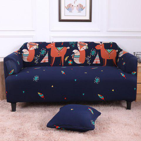 All-Purpose Cartoon Sofa Cover for Four Seasons - multicolor E FOUR SEATS SOFA:235CM-300CM
