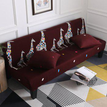 Sofa Cover for Armless Sofa with Cartoon Patterns - multicolor F APPLY FOR ARMLESS SOFA FROM 150CM TO 185CM