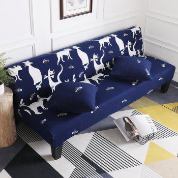 Sofa Cover for Armless Sofa with Cartoon Patterns - multicolor H APPLY FOR ARMLESS SOFA FROM 150CM TO 185CM