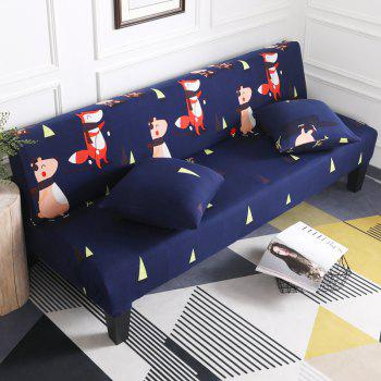 Sofa Cover for Armless Sofa with Cartoon Patterns - multicolor I APPLY FOR ARMLESS SOFA FROM 150CM TO 185CM