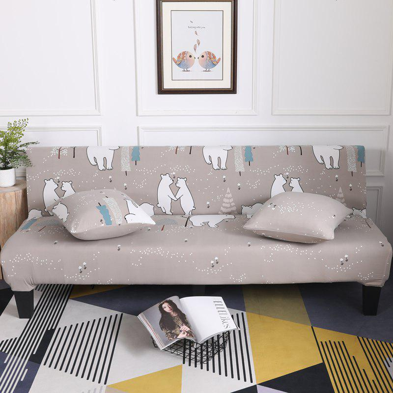 Sofa Cover for Armless Sofa with Cartoon Patterns - multicolor A APPLY FOR ARMLESS SOFA FROM 150CM TO 185CM