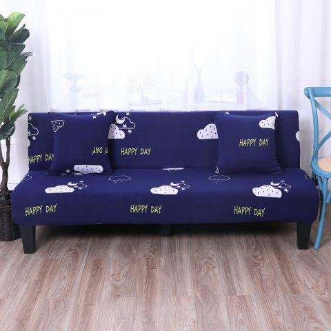Sofa Cover for Armless Sofa with Printed Cloth - multicolor I APPLY FOR ARMLESS SOFA FROM 150CM TO 185CM