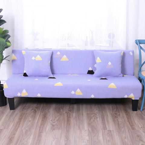 Sofa Cover for Armless Sofa with Printed Cloth - multicolor K APPLY FOR ARMLESS SOFA FROM 150CM TO 185CM