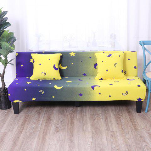 Sofa Cover for Armless Sofa with Printed Cloth - multicolor O APPLY FOR ARMLESS SOFA FROM 150CM TO 185CM