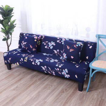 Sofa Cover for Armless Sofa with Printed Cloth - multicolor A APPLY FOR ARMLESS SOFA FROM 150CM TO 185CM