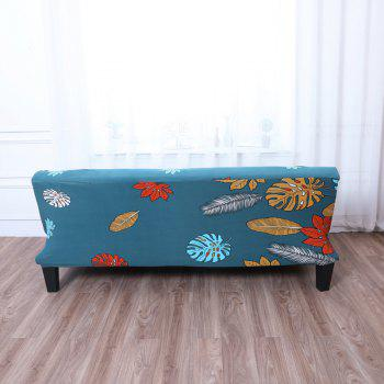 Sofa Cover for Armless Sofa with Printed Cloth - multicolor C APPLY FOR ARMLESS SOFA FROM 150CM TO 185CM