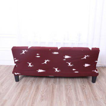 Sofa Cover for Armless Sofa with Printed Cloth - multicolor D APPLY FOR ARMLESS SOFA FROM 150CM TO 185CM