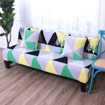 Sofa Cover for Armless Sofa with Printed Cloth - multicolor F APPLY FOR ARMLESS SOFA FROM 150CM TO 185CM