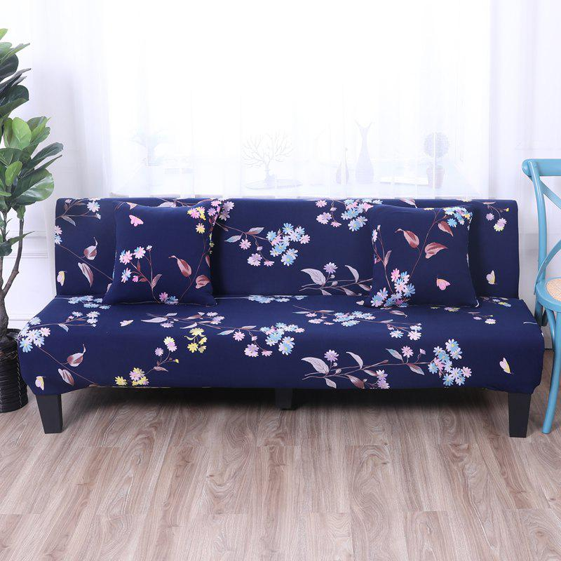 Sofa Cover for Armless Sofa with Printed Cloth xxxg short board stool for shoes for children and adults with small cloth wood chair sofa stool small wooden bench cloth art