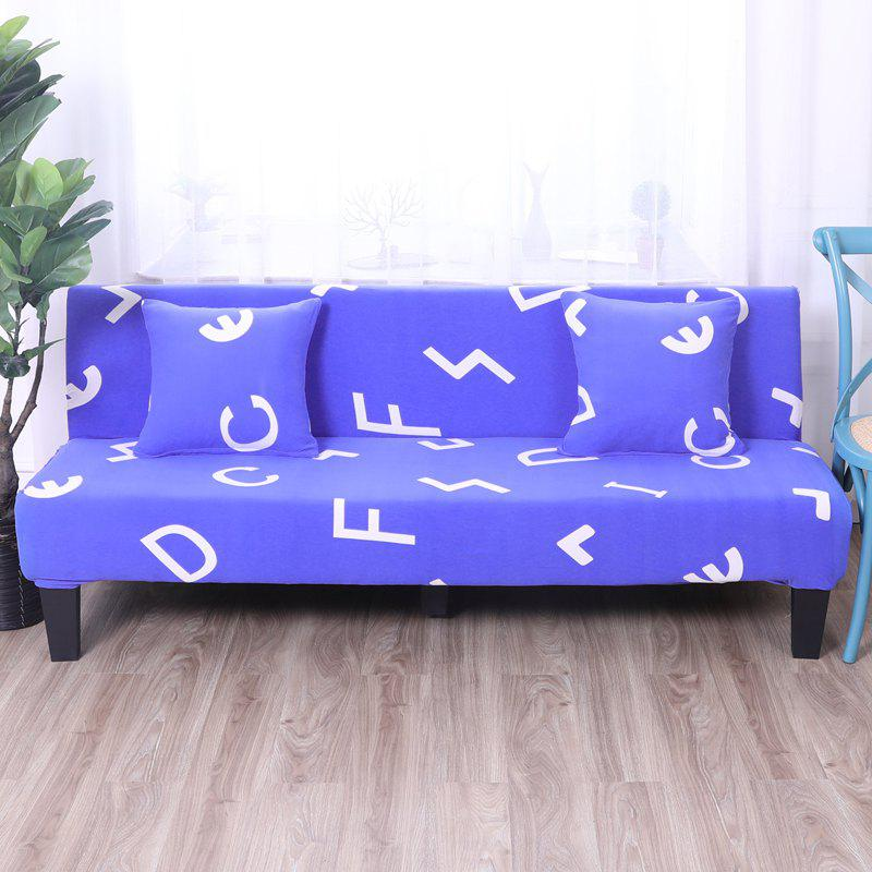 Sofa Cover for Armless Sofa with Printed Cloth - multicolor B APPLY FOR ARMLESS SOFA FROM 150CM TO 185CM