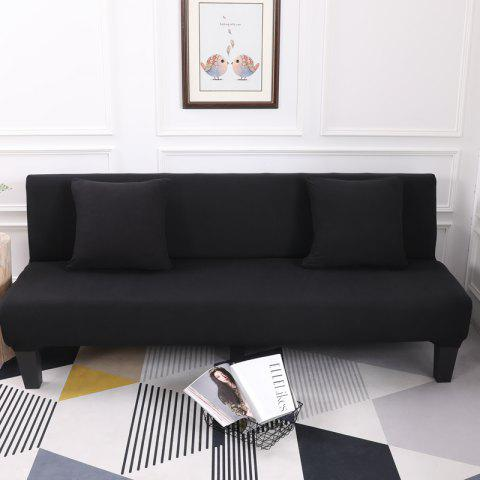 Sofa Cover for Armless Sofa with Pure Color - BLACK APPLY FOR ARMLESS SOFA FROM 150CM TO 195CM