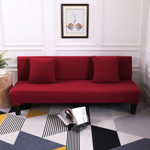 Sofa Cover for Armless Sofa with Pure Color - RED WINE APPLY FOR ARMLESS SOFA FROM 150CM TO 195CM