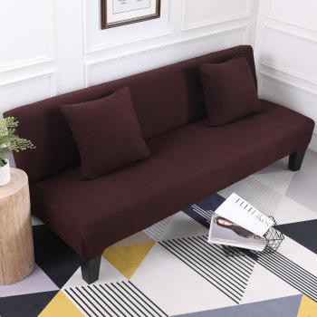Sofa Cover for Armless Sofa with Pure Color - DEEP COFFEE APPLY FOR ARMLESS SOFA FROM 150CM TO 195CM