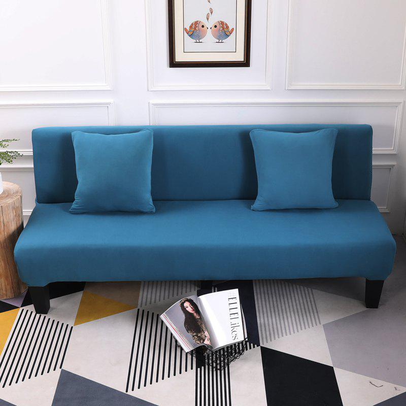 Sofa Cover for Armless Sofa with Pure Color - BLUE LAGOON APPLY FOR ARMLESS SOFA FROM 150CM TO 195CM