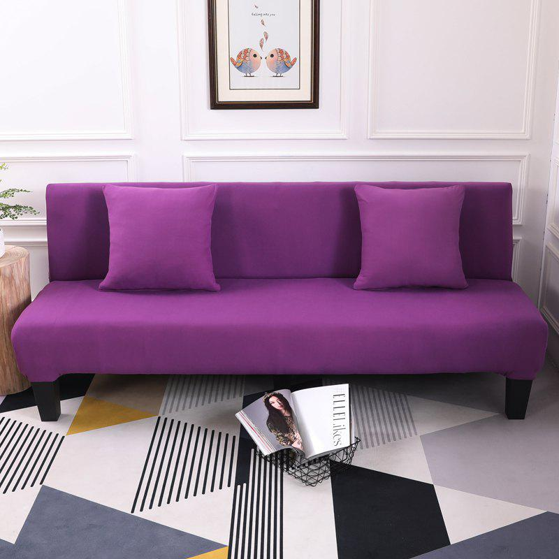 Sofa Cover for Armless Sofa with Pure Color - PURPLE DRAGON APPLY FOR ARMLESS SOFA FROM 150CM TO 195CM