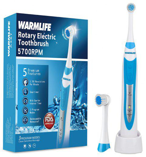 Electric Toothbrush Clean As Dentist Rechargeable Sonic Rotating Brush Head - DODGER BLUE