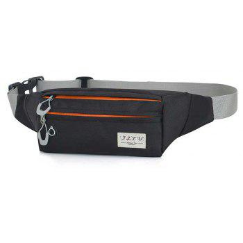 Multi-function Breath Waist Bag for Outdoor Sports Mountaineering Running - BLACK