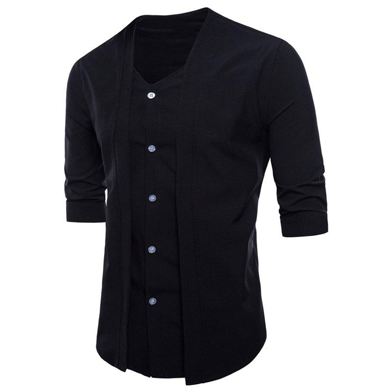 Men Casual Fashion Two Pieces Short Sleeve Shirts sbart 2mm neoprene short sleeve one pieces wetsuit men
