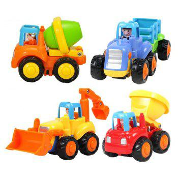 Early Education 1 Year Old Baby Toy Push and Go Car Toy Set - multicolor