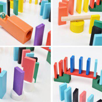 Domino for Children Adult Competition 200PCS - multicolor A