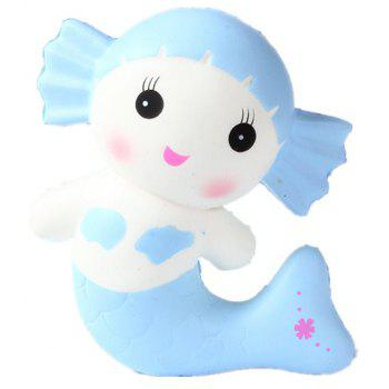 Slow Resilient Series of Lovely Elastic Mermaid Toys Jumbo Squishy 5PCS - multicolor A