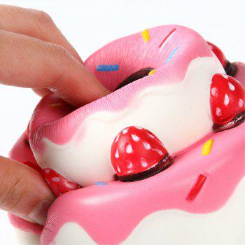 Slow Rebound Series Lovely Elastic Double Layer Cake Toys  Jumbo Squishy 5PCS - multicolor A