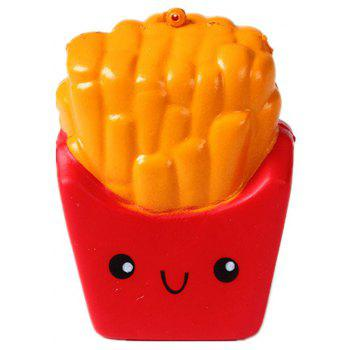 Emulation Slow Rebound Series of Lovely Elastic Fries Jumbo Squishy 5PCS - multicolor A