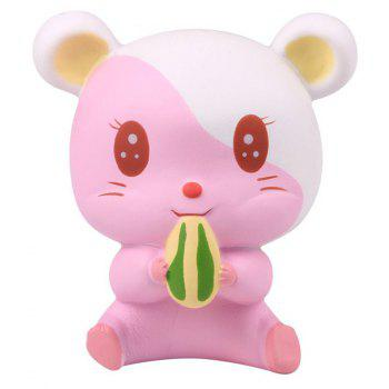Slow Rebound Series of Cute Little Hamster Toys Jumbo Squishy 5PCS - multicolor A
