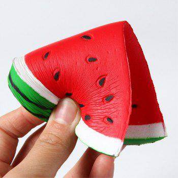 Slow Rebound Series Lovely Elastic Triangle Watermelon Toy Jumbo Squishy 5PCS - multicolor A