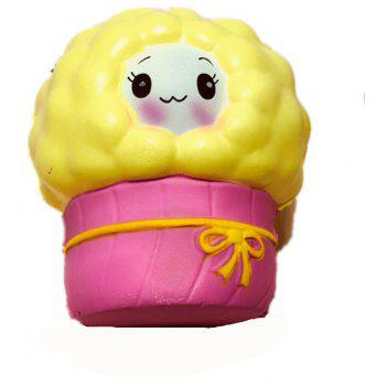 Slow Rebound Series of Cute Little Elastic Small Sheep Toys Jumbo Squishy 5PCS - multicolor A