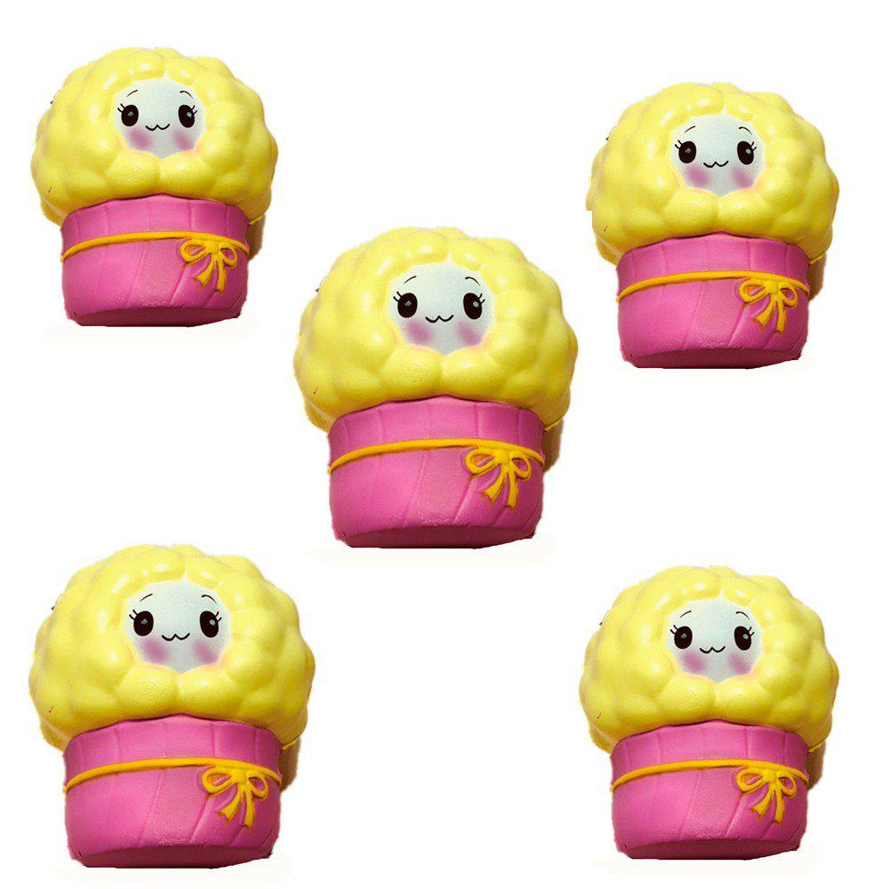 Slow Rebound Series of Cute Little Elastic Small Sheep Toys Jumbo Squishy 5PCS colorful coated paper clips 80 jumbo 250 small