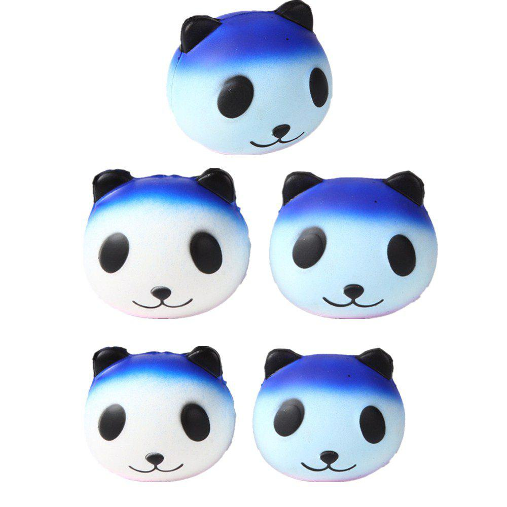 Slow Rebound Series Cute Elastic Starry Sky Panda Toy Jumbo Squishy 5PCS - multicolor A