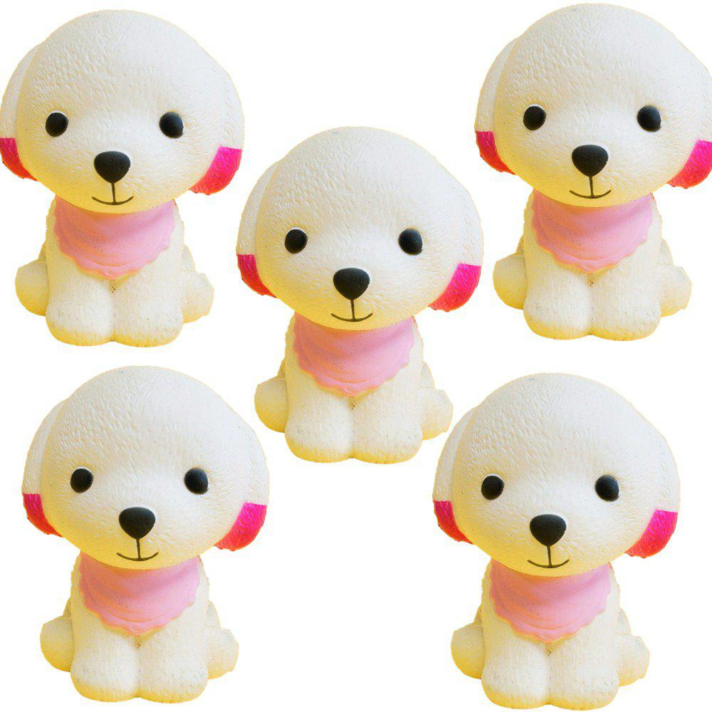 Slow Rebound Series of Lovely Elastic Puppy Toys Jumbo Squishy 5PCS - multicolor A