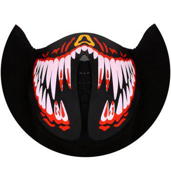 Music Party Halloween Light Up Mask - BLACK