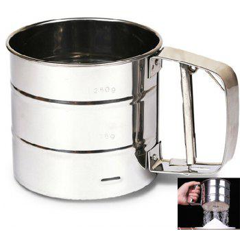 Brand New Stainless Steel Sieve Cup Powder Flour Mesh Sieve Baking Tools - SILVER