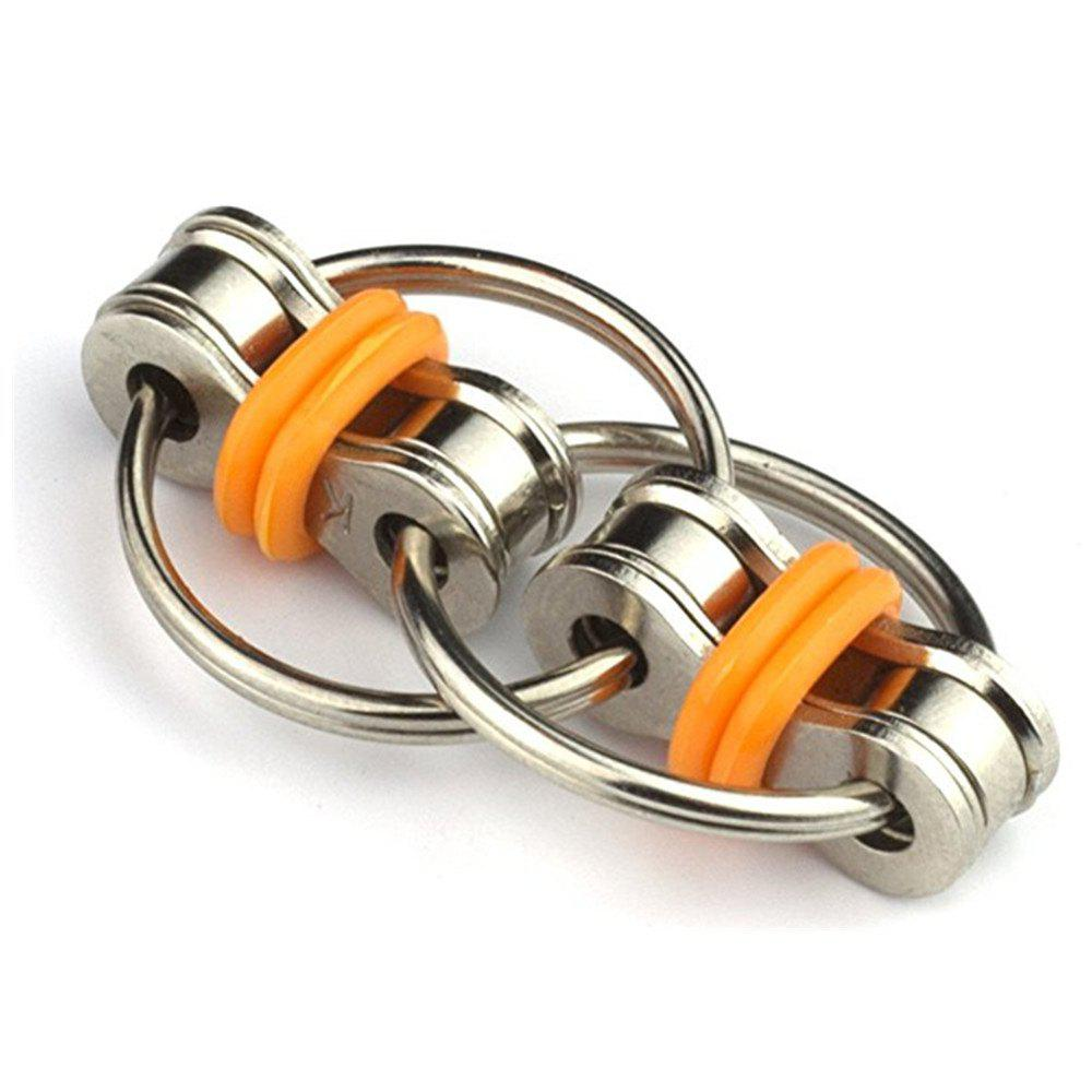 Flippy Chain Fidget Toy for Adults and Kids - SAFFRON