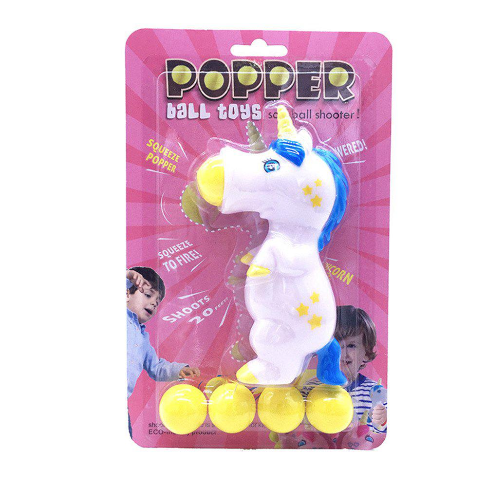 Unicorn Pieces Wild Animal Popper Squeeze Toys Shooting for Children Kids plush animals black footed ferret doll stuffed children s toys simulation animal dolls rare gifts
