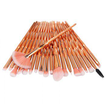 Diamond Handle Makeup Brush 20pcs - multicolor C