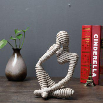 Creative Home Decoration Ornaments Sandstone Abstract Figures - GRAY CLOUD