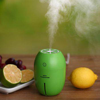 Mini Lemon with LED Light USB Portable Humidifier Air Diffuser - GREEN