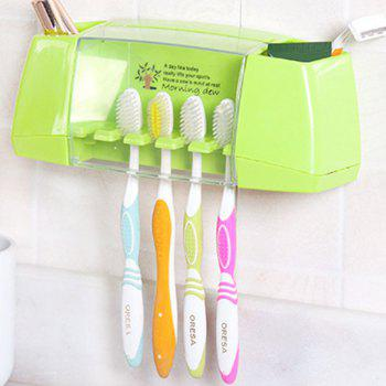 Multifunctional Toothbrush Holder Storage Box Bathroom Accessories - GREEN