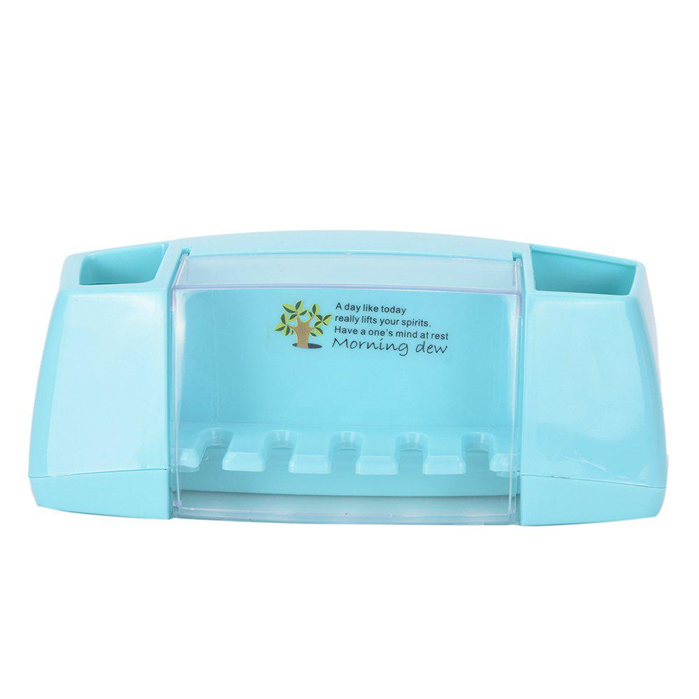 Multifunctional Toothbrush Holder Storage Box Bathroom Accessories - BLUE