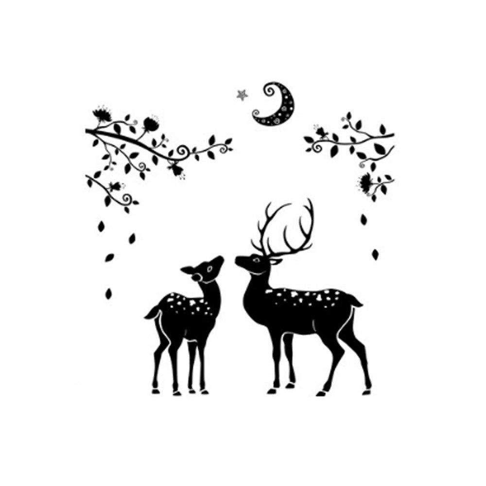 Fawn Simple Background Decoration Removable Wall Sticker home decoration removable quote wall art sticker