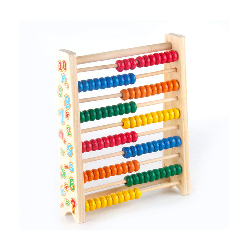 Children Early Education Colorful Wooden Calculation Abacus Calculation Frame new arrival colorful 10 row bead wooden abacus child educationnal calculate math learning teaching tool kid baby toy wholesale