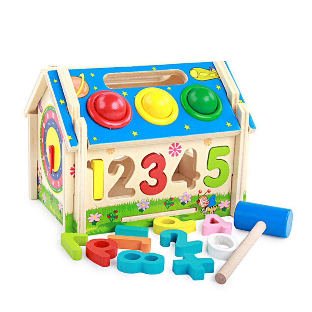 Children Early Education Puzzle Geometry Multi-functional Shape Matching Wisdom - multicolor